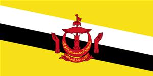 Flag of Nation of Brunei, the Abode of Peace